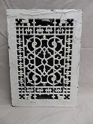 Antique Cast Iron Floor Wall Heat Grate Louvres Victorian Design Old 3810-14