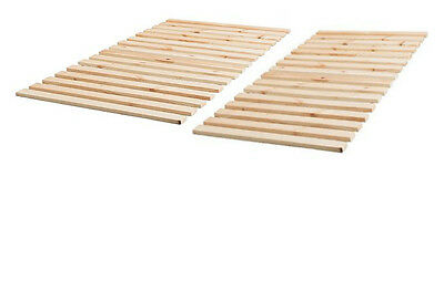 Wooden Slats for Double Bed, Pine Slats, Replacement Slats