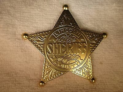 Old West Obsolete Lincoln County Sheriff Badge (Gold)