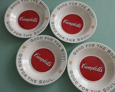 4 Arcopal Bowls Campbell's Soup Good For The Body Good For The Soul
