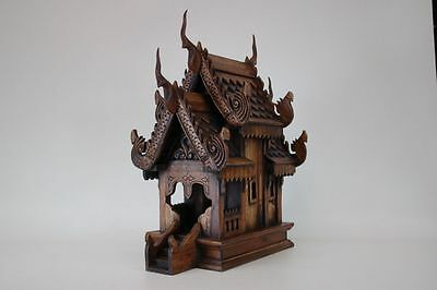 Thai aunted house « Fang  » spirits house, teak wood, imported Thailand (19092)