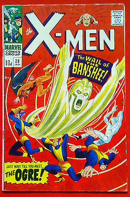 X-MEN #28 (1963 SERIES), 1st APPEARANCE OF THE BANSHEE.