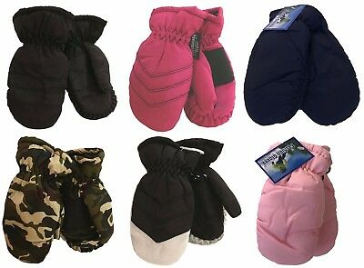 Kids Infants Child Ski MITTENS THINSULATE GLOVES / 2 T to 4 T -Solid