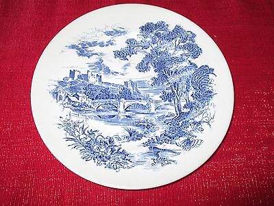 """Vintage Blue & White Wedgwood & Co. LTD. """"Countryside"""" Plate"""