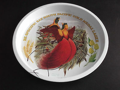 Willow South Pacific Gold Medal Lager beer tray - Birds of Paradise