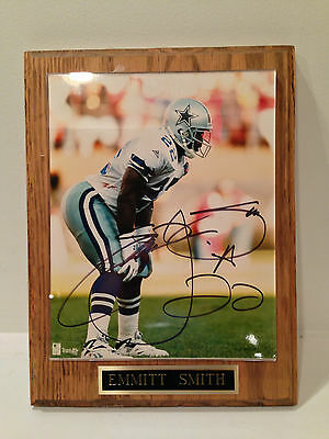 Emmitt Smith autographed plaque