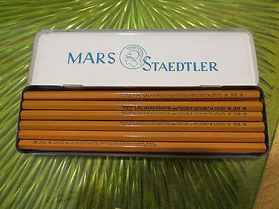Vintage Mars Staedtler Pencil Tin - Made in Germany with pencils