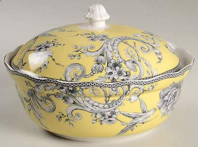 222 Fifth ADELAIDE YELLOW Round Covered Vegetable Bowl 9437404