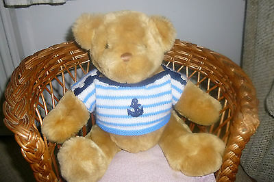Teddy Bear Clothes Hand Knitted Stripey Seaside Jumper