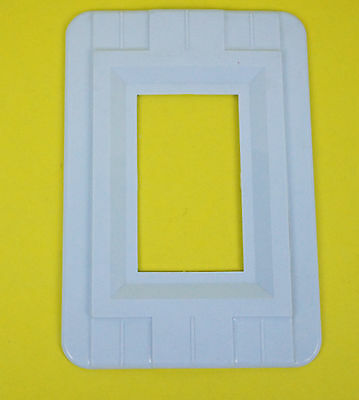 Vtg Switch Oulet Cover Decorative Wall Protector Shield Plate Blue Single Gang