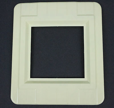 Vtg Ivory Color Switch Oulet Cover Wall Protector Shield Plate Double Gang Deco