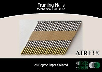 Framing Nails – 28 Degree - Mech Gal - Smooth - Box: 3000 - Size: 75 x 3.05mm