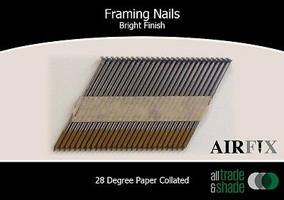 Framing Nails – 28 Degree - Bright - Smooth Blunt - Box: 3000 - Size: 75x3.05mm