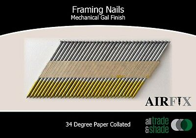 Framing Nails – 34 Degree - Mech Gal - Smooth - Box: 3000 - Size: 90 x 3.3mm