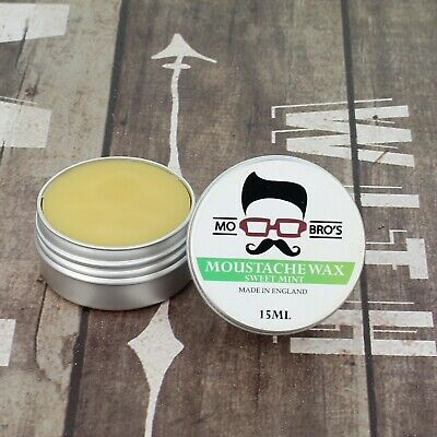 Mo Bro's - Sweet Mint Moustache Wax 15ml Tin Made in England