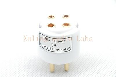 1pc UX4 Gold plated tube saver adapter for WE300B 2A3 811 101D