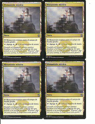 mtg Magic 4x Mystic Monaster ( Monasterio mistico ) Spanish NM- Khans Of Tarkir