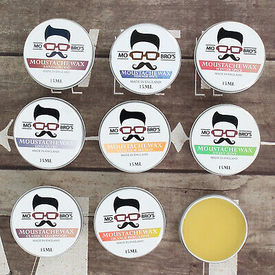 Moustache Wax | Style & Moisturise Beards | 15ml Tins | 10 Scents