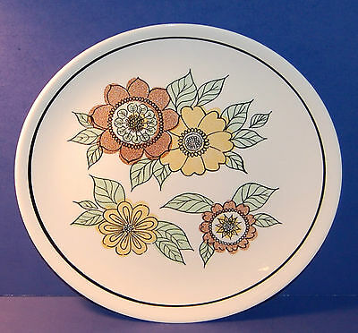 """TAYLOR SMITH TAYLOR USA FLORA PATTERN 12 3/8"""" ROUND CHOP PLATE or PLATTER (3-D)"""