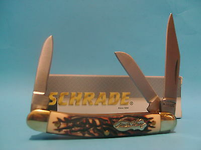 Schrade Uncle Henry Stockman pocket knife 3 blade 807UH Free Shipping in USA