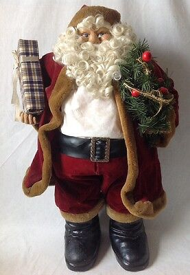 "Large Santa Claus Doll Christmas Decor Figure 32"" Tall"