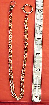 Vintage Fancy Dress Gold plated Mans Pocket  Watch Chain 12 inch Gift Idea