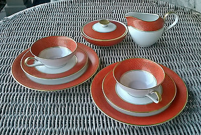 Anmut Goldene Medaille Heinrich Selb Bavaria Cups Saucers Plates Cream And Sugar