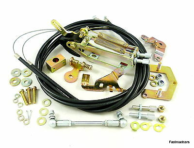 Weber Dcoe/Sp Carb/Carburettor Throttle Linkage Lp2000 Top Mount Twin Cable New