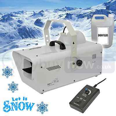 QTX SW-2 Artificial 1200W Snow Machine Christmas Party Effect Flake Foam Disco
