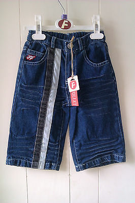 Lovely Cotton Jeans with Stripes from Feu Follet, Age 2-3, 3-4 or 7-8Yrs - BNWT!