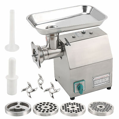 800W Electric Commercial Meat Grinder Mincer Stainless Steel Butchers Catering