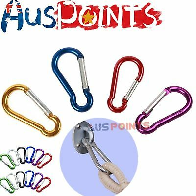Assorted Colors Small Carabiner Clip Snap Hook for  Keyring Sports Snap Link