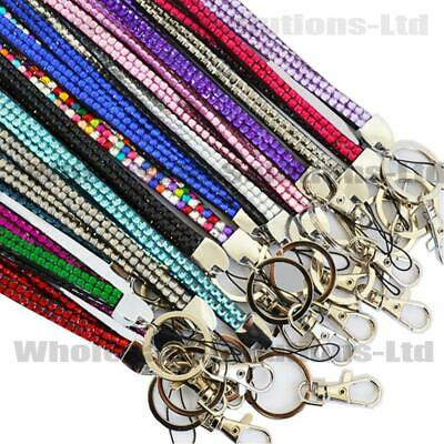 Quality Bling Lanyard Rhinestone Diamante Crystal Neck ID Card Teacher Gift