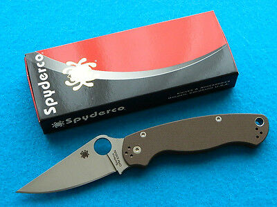 Exclusive Spyderco Paramilitary 2 Folding Knife w/ S35VN Blade & Brown G-10!