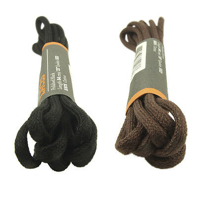 TIMBERLAND REPLACEMENT BLACK or BROWN LACES WEATHERBUCK ROUND SHOELACES 84cm