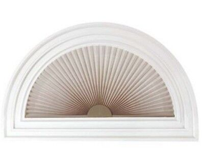"""NEW Half Round 1"""" Arch Pleated Linen Shade Light-Filtering Window Shade Blind"""