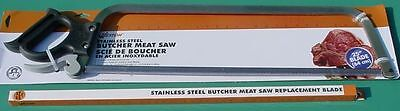 "25"" Stainless Steel Butcher Meat Saw With 25"" Stainless Steel Replacement Blade"