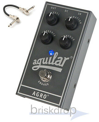 Aguilar Agro Bass Overdrive Pedal  w/ IRG 6 inch cable, 2-3 day Priority Mail