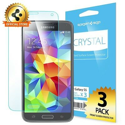 Spigen® Screen Protector [Crystal Clear] [3-Pack] for Samsung Galaxy S5