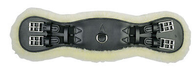 HKM Real Lambs Wool Black Leather Dressage Girth Next Day Delivery Available!!