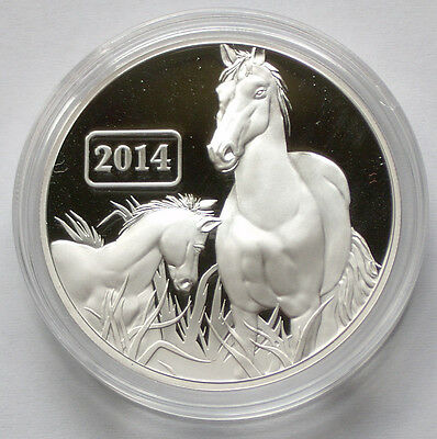 2014 Tokelau Lunar Proof HORSE $5 Coin RARE Max 2,500 SILVER 1oz Germany Minted*