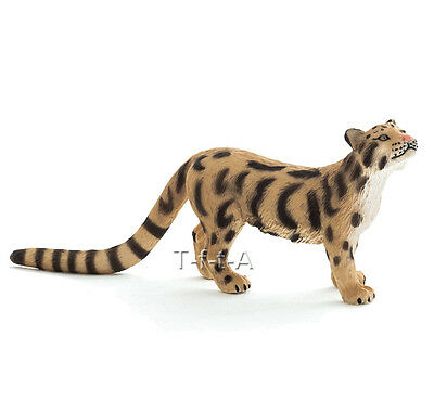 FREE SHIPPING | Mojo Fun 387172 Clouded Leopard Wildlife Model- New in Package