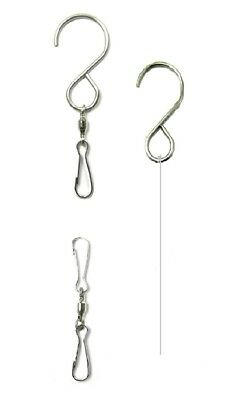 Shipityourway Smooth Wind Spin Swivel Clip S Hook Rotate Turn Twist Hang Display