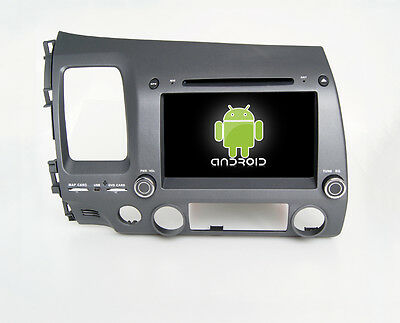 """8"""" Android 4.4 WiFi TPMS Car DVD GPS BT For Honda Civic 06-11 Left Hand Driving"""