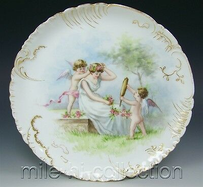 LIMOGES HAVILAND HAND PAINTED MOTHER & ANGELS PLATE