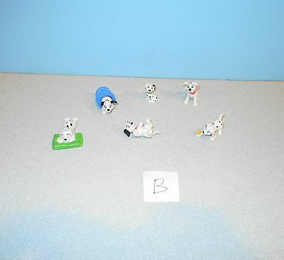 Disney 101 Dalmatians Applause Puppies Puppy Dogs PVC Figures In Bucket & Grass