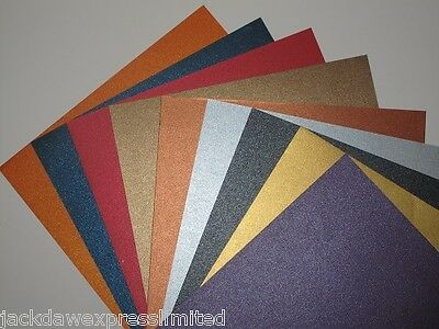 18 x A4 2-Sided Pearlescent Shimmer Paper 125gsm - 9 Colour Mixed Pack AM379