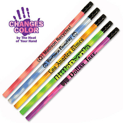 COLOR CHANGING MOOD PENCILS - 500 quantity - Custom Printed with Your Logo