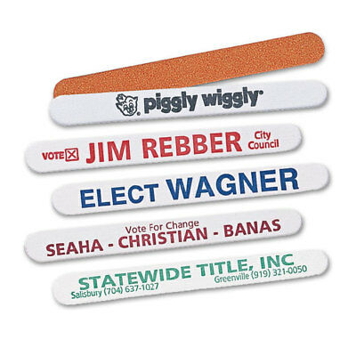 WHITE EMERY BOARDS / NAIL FILES - 750 quantity - Custom Printed with Your Logo