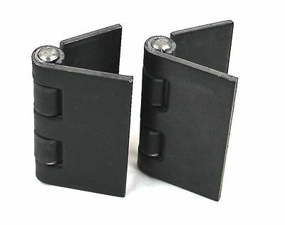 "Heavy Duty Weldable Pair 4"" x 4"" Gate Hinges-Steel Butt Hinge /Hvy Gates Doors"